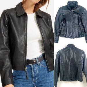 Vintage 90s Wilsons Leather Cropped SlimJacket